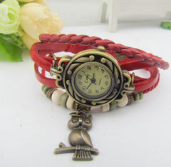 Retro Style Owl Pendant Woven Watch - Oh Yours Fashion - 6