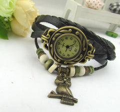 Retro Style Owl Pendant Woven Watch - Oh Yours Fashion - 7