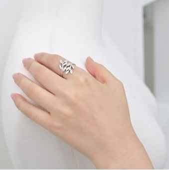 Olive branch leaf ring - Oh Yours Fashion - 2