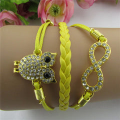 Luxury Crystal Owl 8 Fashion Leather Bracelet - Oh Yours Fashion - 2