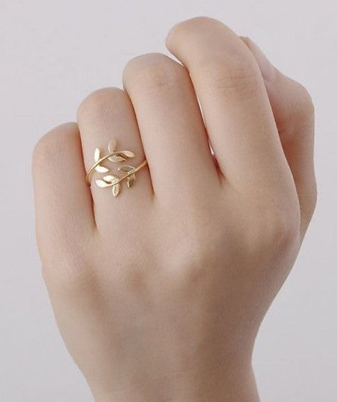 Olive branch leaf ring - Oh Yours Fashion - 1