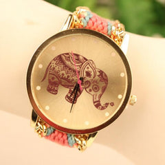 Wool Knitting Strap Elephant Print Watch - Oh Yours Fashion - 10