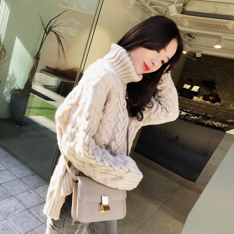 Loose High Neck Thickened Sweater