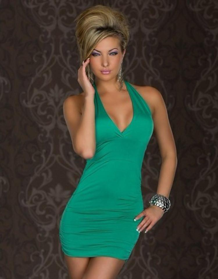 Backless Halter Sleeveless Slim Short Dress - Meet Yours Fashion - 1