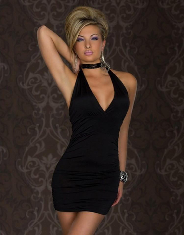 Backless Halter Sleeveless Slim Short Dress - Meet Yours Fashion - 5
