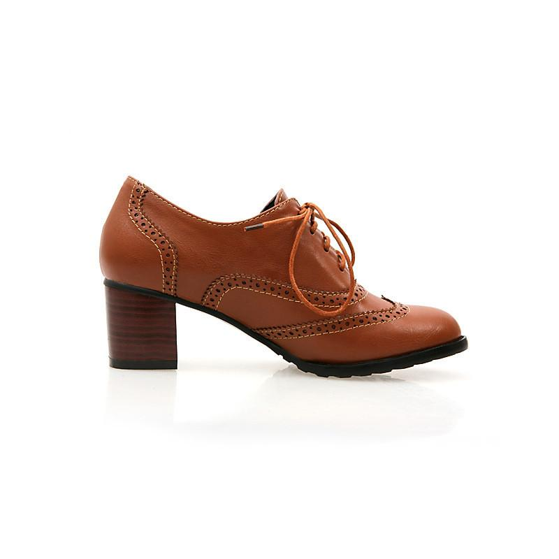 British Style Carved Classy Lace up Oxford Shoes - MeetYoursFashion - 8