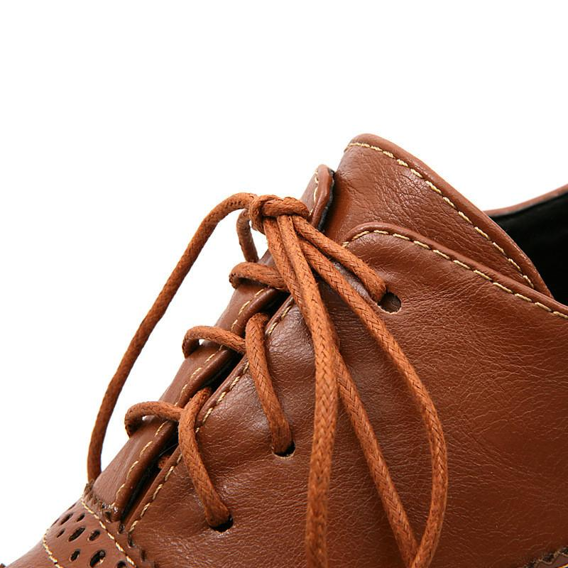 British Style Carved Classy Lace up Oxford Shoes - MeetYoursFashion - 14