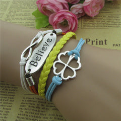 Bright Clover Multilayer Woven Bracelet - Oh Yours Fashion - 1