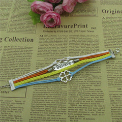 Bright Clover Multilayer Woven Bracelet - Oh Yours Fashion - 2