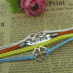 Bright Clover Multilayer Woven Bracelet - Oh Yours Fashion - 3