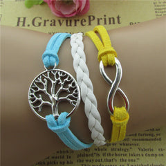 Tree Of Life Multicolor Woven Bracelet - Oh Yours Fashion - 1