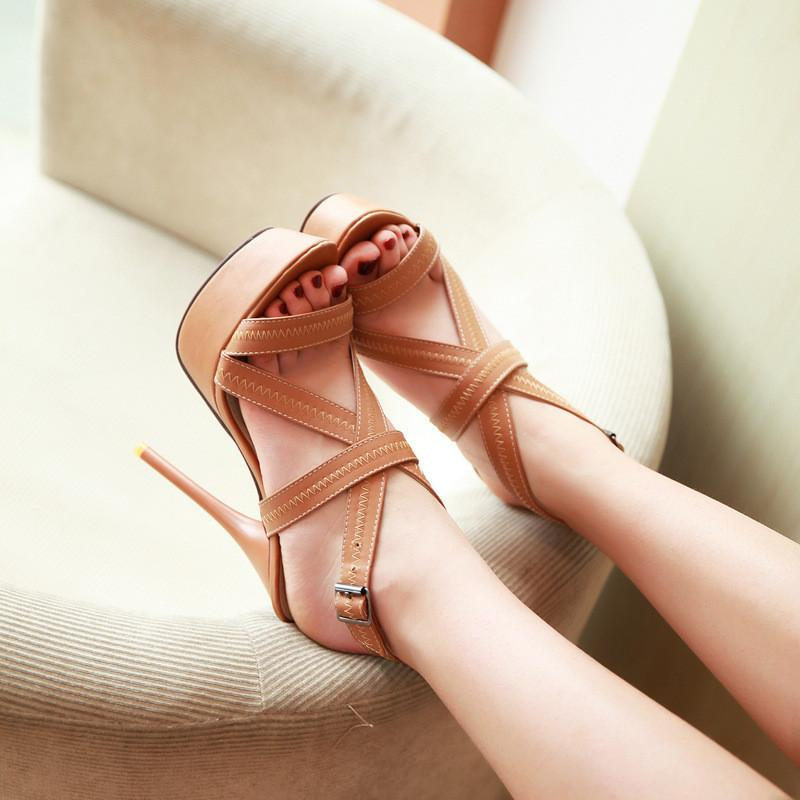 Roman Style Sexy Bandage High Heel Sandals
