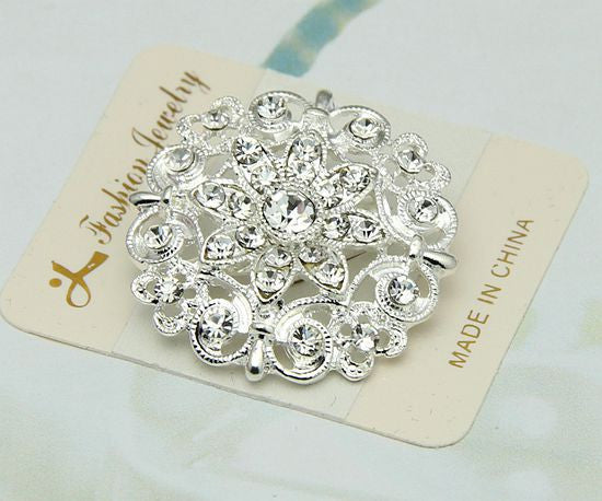 Luxury Crystal Flower Brooch - Oh Yours Fashion - 2