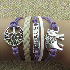 Tree of life Elephant Multilayer Woven Bracelet - Oh Yours Fashion - 2