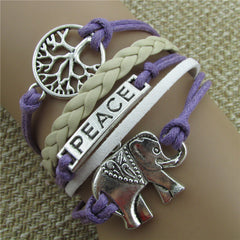Tree of life Elephant Multilayer Woven Bracelet - Oh Yours Fashion - 1