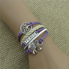 Tree of life Elephant Multilayer Woven Bracelet - Oh Yours Fashion - 4