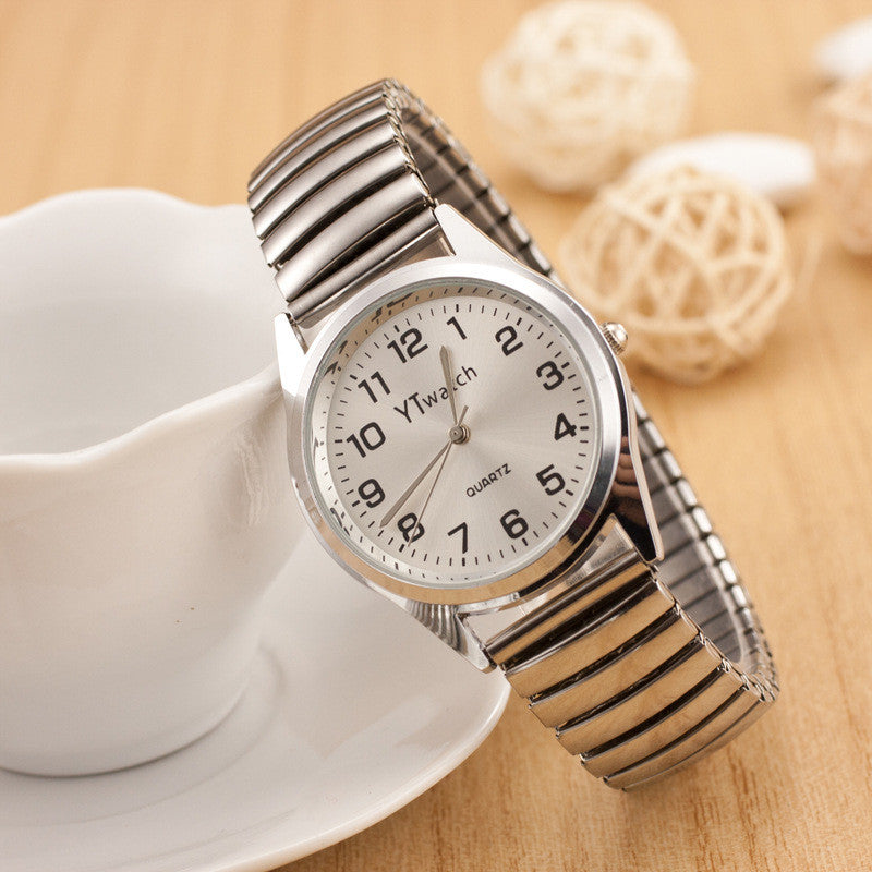 Classic Couple Elastic Strap Watch - Oh Yours Fashion - 1