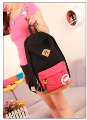Fashion Korea Style Contrast Color School Backpack Travel Bag - Oh Yours Fashion - 4