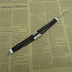 Simple Fashion LOVE Black Wax String Bracelet - Oh Yours Fashion - 4