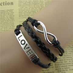 Simple Fashion LOVE Black Wax String Bracelet - Oh Yours Fashion - 2