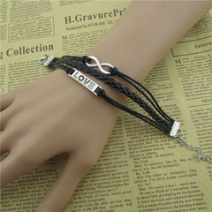 Simple Fashion LOVE Black Wax String Bracelet - Oh Yours Fashion - 3
