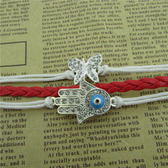 Bright Hand Eyes Butterfly Woven Bracelet - Oh Yours Fashion - 2