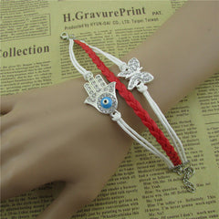 Bright Hand Eyes Butterfly Woven Bracelet - Oh Yours Fashion - 3