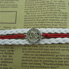 Beautiful Crystal Rose Woven Bracelet - Oh Yours Fashion - 2