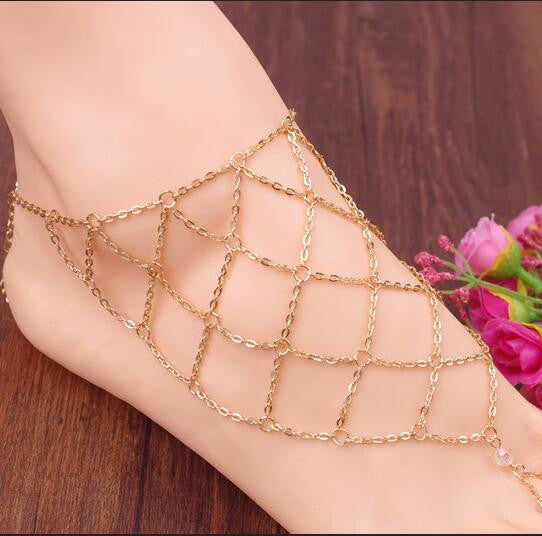 Exaggerate Hyperbole Mesh Anklet - Oh Yours Fashion - 1