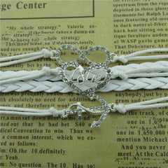 Diamond LOVE Beautiful Leather Cord Bracelet - Oh Yours Fashion - 2