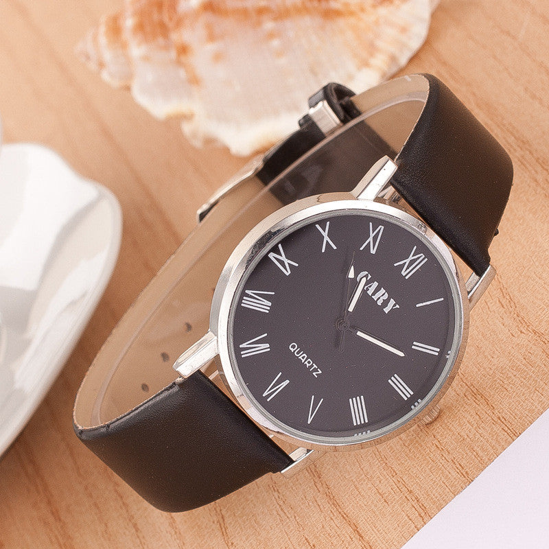 Roman Number Couple Leather Watch - Oh Yours Fashion - 3