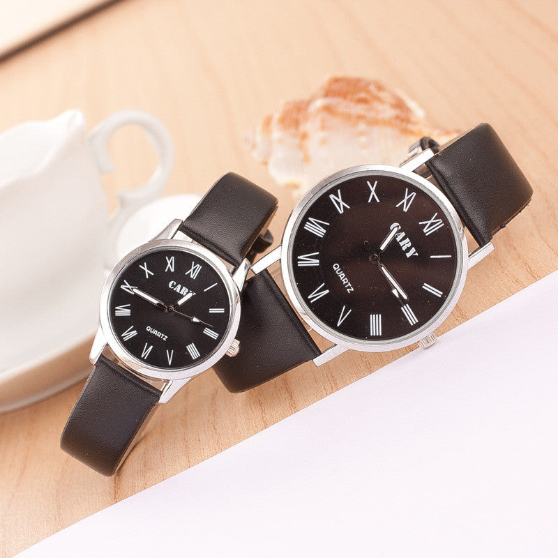 Roman Number Couple Leather Watch - Oh Yours Fashion - 6