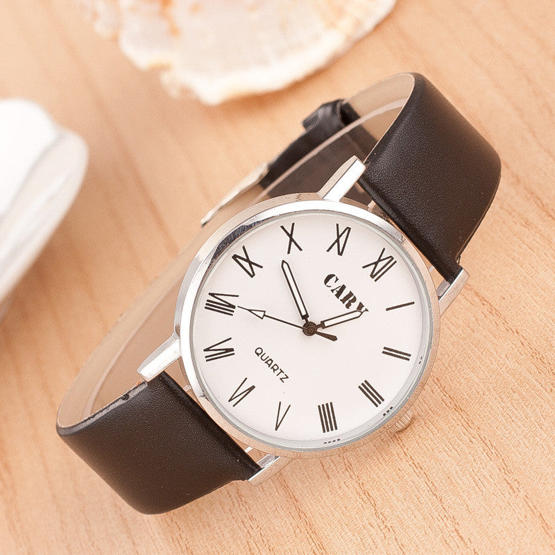 Roman Number Couple Leather Watch - Oh Yours Fashion - 1