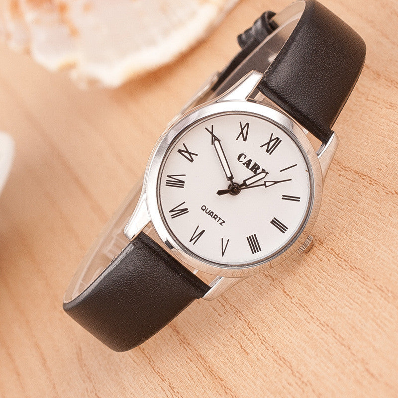 Roman Number Couple Leather Watch - Oh Yours Fashion - 2