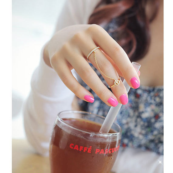 Beautiful Double Ring Multi-finger Ring - Oh Yours Fashion - 1