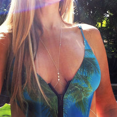 Beautiful Crystal Necklace BodyChain - Oh Yours Fashion - 2