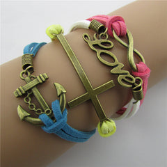 Joker LOVE Anchor Multi-layer Bracelet - Oh Yours Fashion - 1