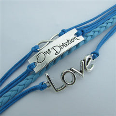 Romantic LOVE Leather Cord Bracelet - Oh Yours Fashion - 5