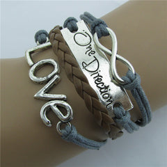 Romantic LOVE Leather Cord Bracelet - Oh Yours Fashion - 4