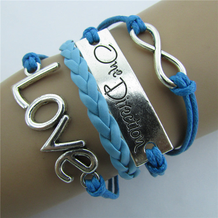 Romantic LOVE Leather Cord Bracelet - Oh Yours Fashion - 1