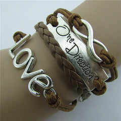 Romantic LOVE Leather Cord Bracelet - Oh Yours Fashion - 3