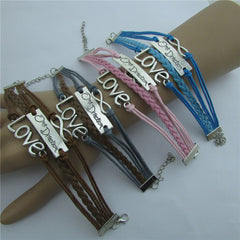 Romantic LOVE Leather Cord Bracelet - Oh Yours Fashion - 6
