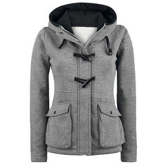 Pocket Horns Deduction Hooded Coat - Oh Yours Fashion - 1
