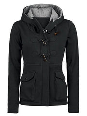 Pocket Horns Deduction Hooded Coat - Oh Yours Fashion - 2