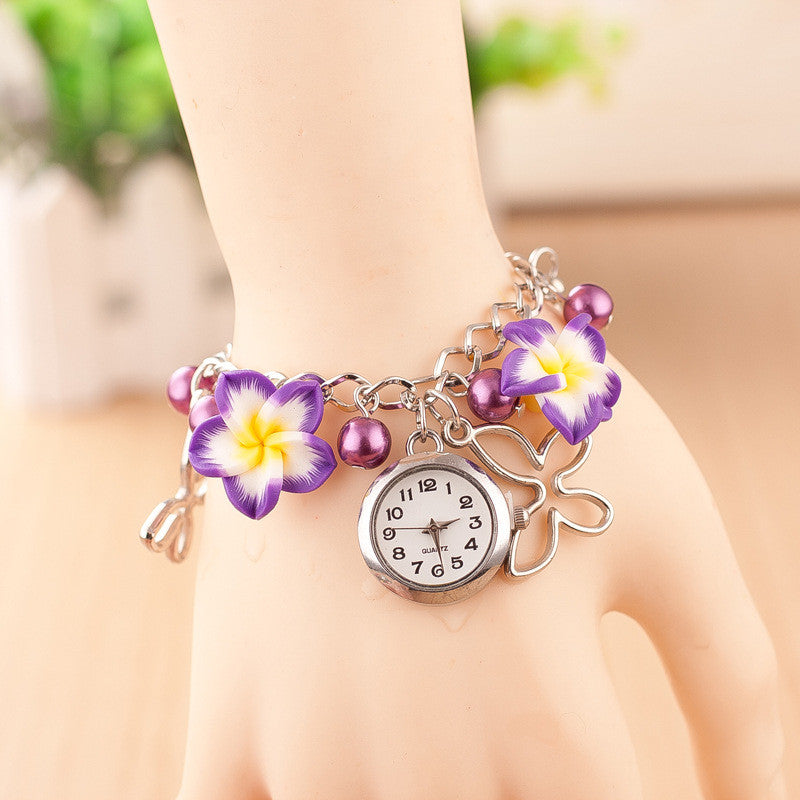 Flower Pearl Butterfly Watch - Oh Yours Fashion - 4