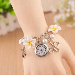 Flower Pearl Butterfly Watch - Oh Yours Fashion - 1
