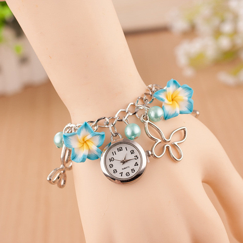 Flower Pearl Butterfly Watch - Oh Yours Fashion - 6