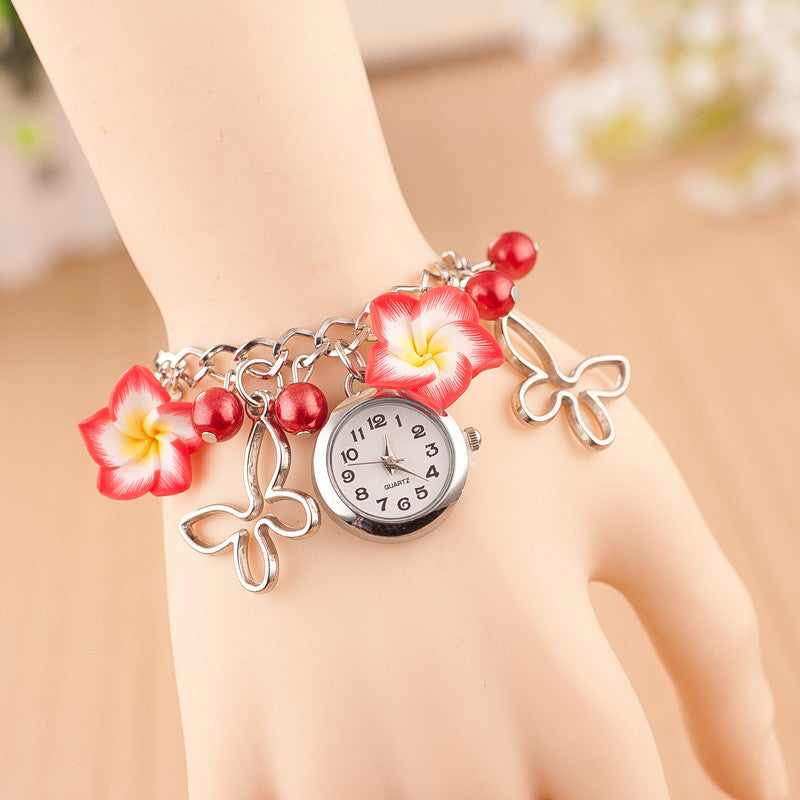 Flower Pearl Butterfly Watch - Oh Yours Fashion - 3