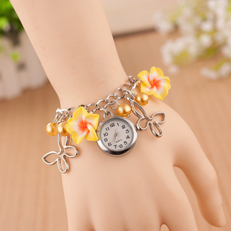 Flower Pearl Butterfly Watch - Oh Yours Fashion - 2