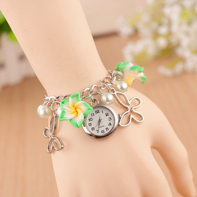 Flower Pearl Butterfly Watch - Oh Yours Fashion - 5